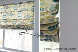 Roman Curtains Easy Diy No Sew Roman Shades Fun Cheap Or Free