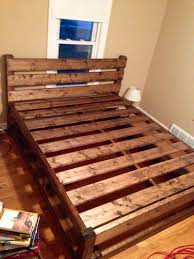 Build Wood Platform Bed Frame by Bed Frame Frame Solid Platform U Headboard Reclaimed Build A En