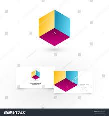 modern colorful geometric shape icon design stock vector 254234149