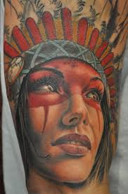 native american tattoo in color by roly viruez tattoonow