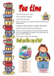 Free Time Worksheets 13 Free Esl Tea Time Worksheets