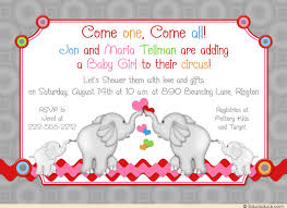 circus baby shower elephant act shower invitation adorable show circus baby