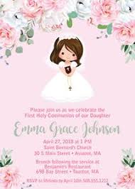 communion invitations for girl girl communion invitations announce it