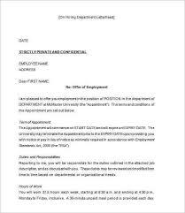 sample job offer letter template formal word templatesjob offer