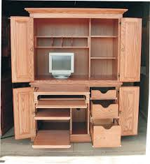 Computer Desk And Hutch Cabinets Entrancing Crystal Office Armoire With Elegant