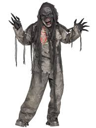 burning walking dead zombie new fancy dress scary child kids