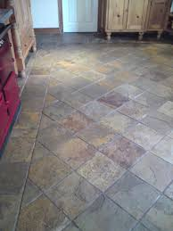 grey stone tile flooring with grout cleaning in belfast holywood