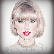 taylor swift drawing artist on instagram