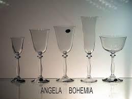 bicchieri boemia vetro e cristallo bohemia calici angela