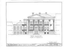 Floor Plan Mansion Belle Grove Plantation Mansion White Castle Louisiana Front