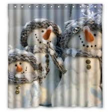 Snowman Curtains Kitchen Snowman Shower Curtain Sets U2022 Comfy Christmas