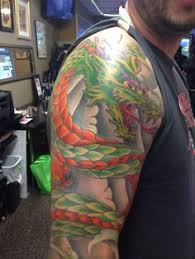 big bold name tattoo by shop artist nick click on the image for