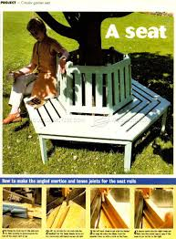 circular tree bench plans u2022 woodarchivist
