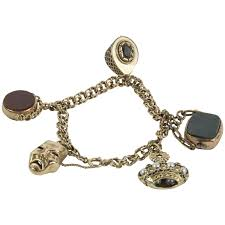 antique charm bracelet charms images Diamond gold and antique charm bracelets 335 for sale at 1stdibs jpg