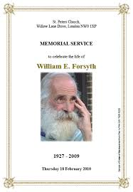 Funeral Stationery Order Of Service Funeral Stationery