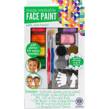 kids craft face paint mega set by horizon group usa walmart com