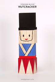 mollymoocrafts handmade stacking blocks nutcracker