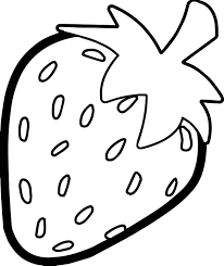 strawberry fruit coloring page youtuf com