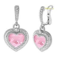 pink drop earrings judith ripka heart drop earrings with pink sam s club