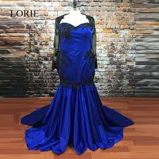 aliexpress com buy gothic royal blue mermaid wedding dresses