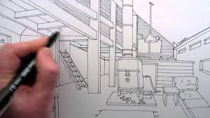 draw a room how to draw a room narrated line drawing youtube
