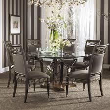 Glass Dining Room Tables With Extensions by Round Dining Room Tables With Leaf Brownstone 56 Inside Design For
