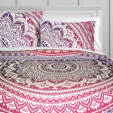 bedroom wonderful pattern bedding design ideas with hippie duvet