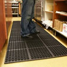 rubber kitchen floor mats make a statement at local trade show