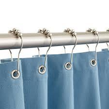 roller shower curtain rings bathroom