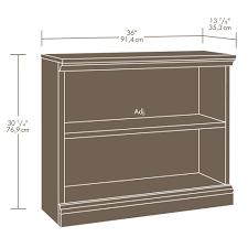 Sauder Bookcase by Sauder Select Estate Black 2 Shelf Bookcase 412175