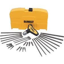 dewalt 31 piece ratcheting t handle hex key set dwht70265 do