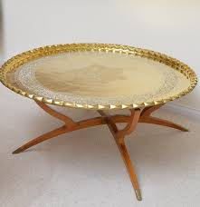 moroccan style collapsible coffee table with tray top ebth
