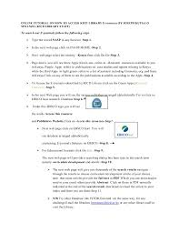 online tutorial library kicd library electronic journals tutorial by joseph kutialo mwanzo no