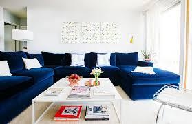 canapé velours bleu déco deco interieur canape velours bleu fonce déco intérieur
