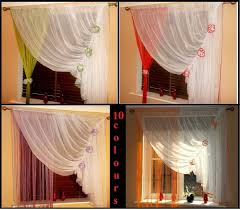 crinkled net curtains with flounce white ecru voile for you