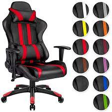 fauteuil de bureau sport tectake chaise fauteuil siège de bureau racing sport ergonomique