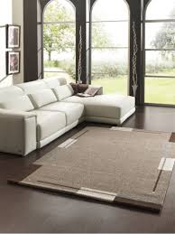 Tapis Beige Salon by De Salon Contemporain Marron Flume