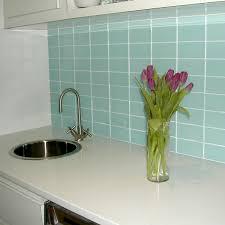 light blue glass subway tile in vapor modwalls lush 6x12 tile