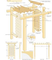 Wood Pergola Plans by Build A Garden Gateway Pergola Http Canadianhomeworkshop Com