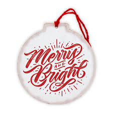 circle ornaments merry and bright 12 timbers