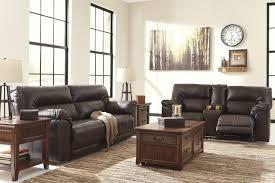 flexsteel chicago reclining sofa ashley 4730181 94 barrettsville durablend chocolate reclining