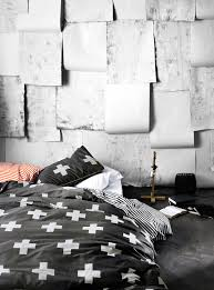 black u0026 white bedding aura anchorage cross duvet at simons