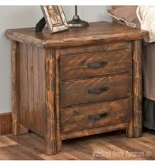 cedar log nightstands and night tables