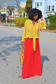 style pantry red pleated maxi skirt