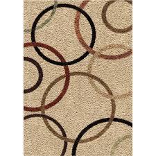Rug 7x10 3706 7x10 Orian Rugs 3706 7x10 Shag Circles Circle Design Beige