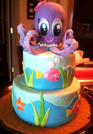 baby octopus this was a cake for an ocean themed baby shower