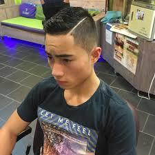 asian combover comb over fade asian trendy men hairstyle