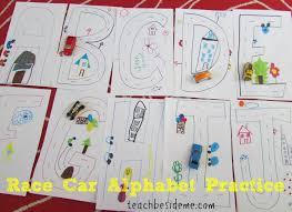 practice alphabet race car alphabet practice teach beside me