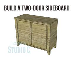 Free Diy Furniture Plans To by Free Diy Woodworking Plans To Build A Two Door Sideboard