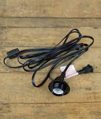 socket black pendant l cord for lanterns 11ft